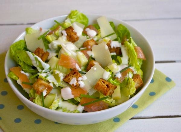 salade cesar au saumon