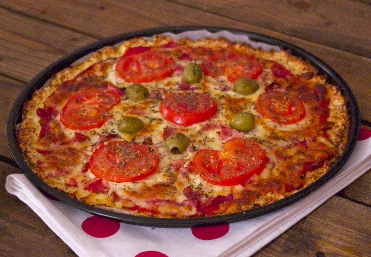 Pizza croute chou fleur