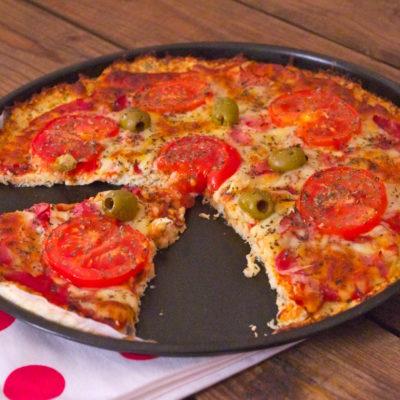 Pizza croûte chou-fleur, light & sans gluten