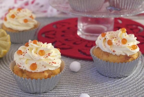 cupcakes legers saumon fume Lendemain de fête Muffins légers au saumon fumé