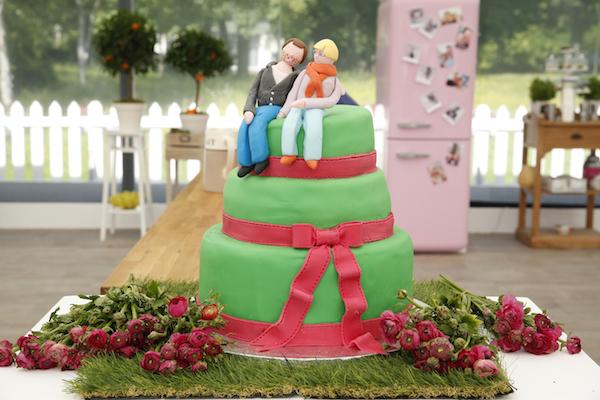 wedding cake vert anne sophie meilleur patissier Le Meilleur Pâtissier Semaine 5 – Le wedding cake