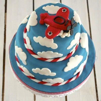 Gâteau nuages & avion