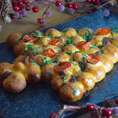 Pizza balls sapin de Noël