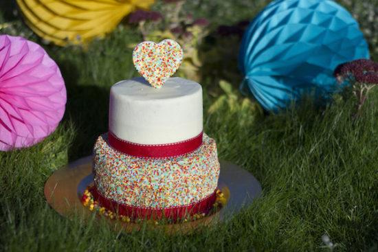 Funfetti cake d'anniversaire