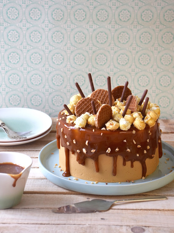 Layer cake chocolat-caramel