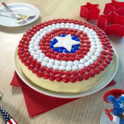 Gâteau Captain America
