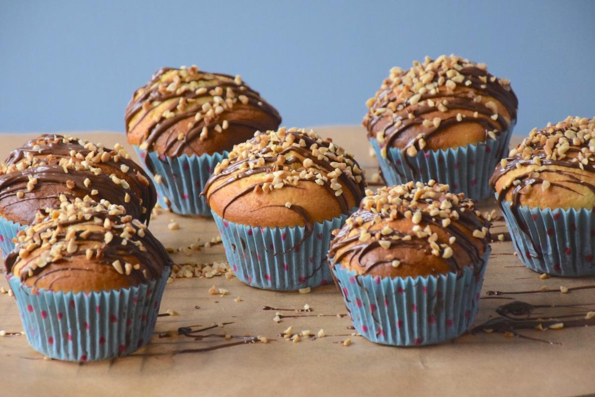 Nutella stuffed muffins