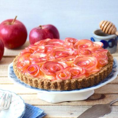 Tarte bouquet de roses pommes-sirop d'érable