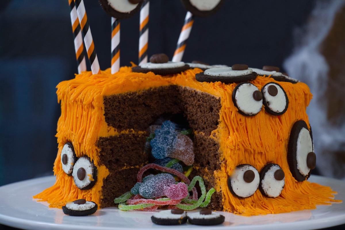 Gâteau monstre Halloween Oreos