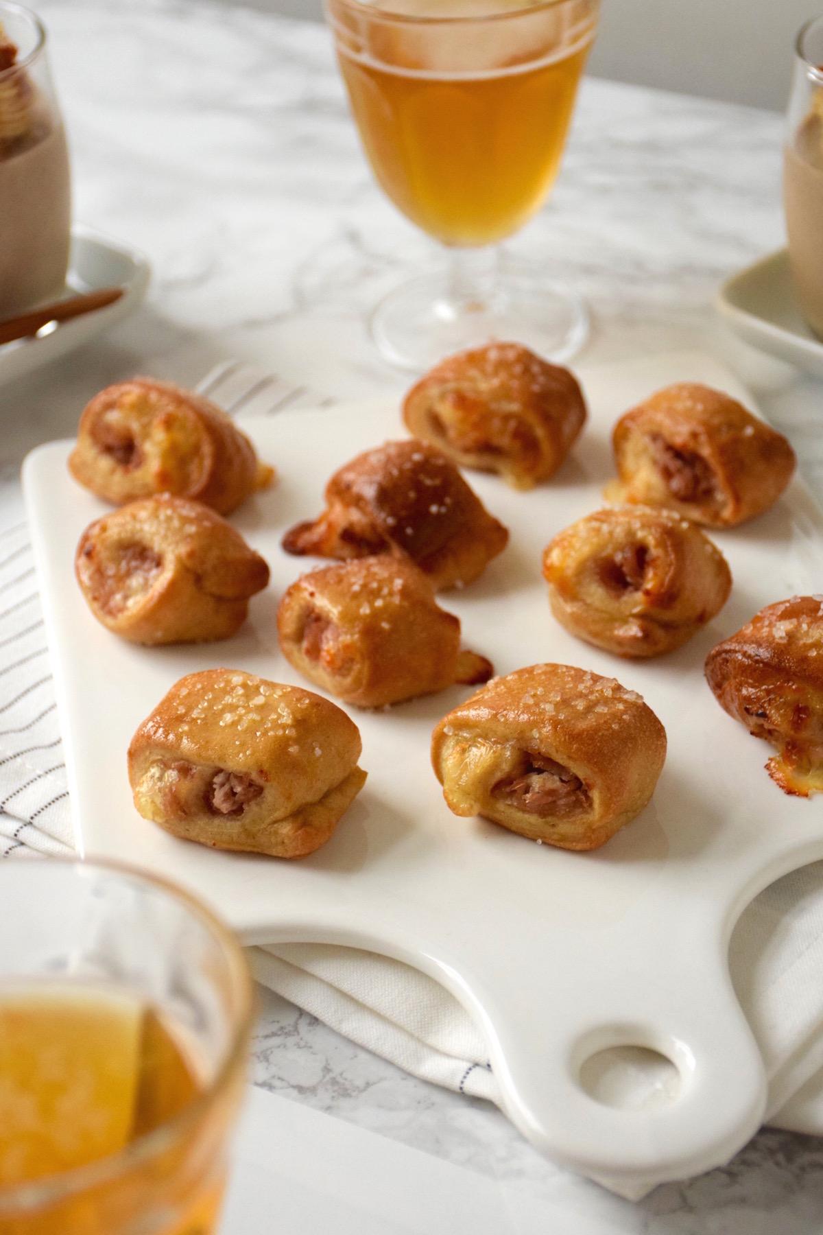Bouchées bretzels jambon-fromage