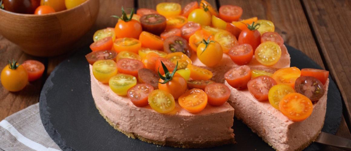 Tomates cerises à l'honneur – Cheesecake salé aux tomates