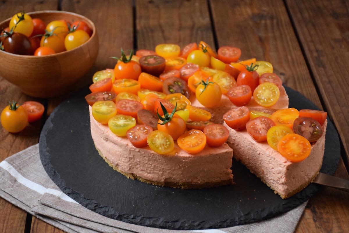 Cheesecake salé aux tomates cerises