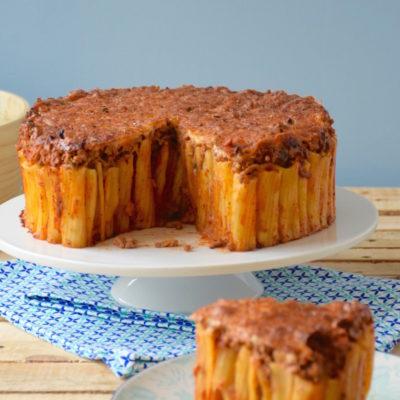Gâteau de pâtes façon bolognaise