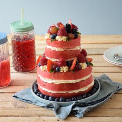 Le hit de l'été – Gâteau de pastèque à étage (Layer Cake Pastèque)