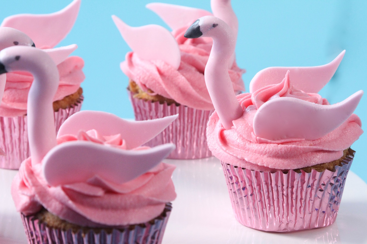 Cupcakes flamants roses