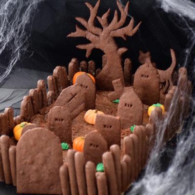 Booh! – Gâteau cimetière d'Halloween