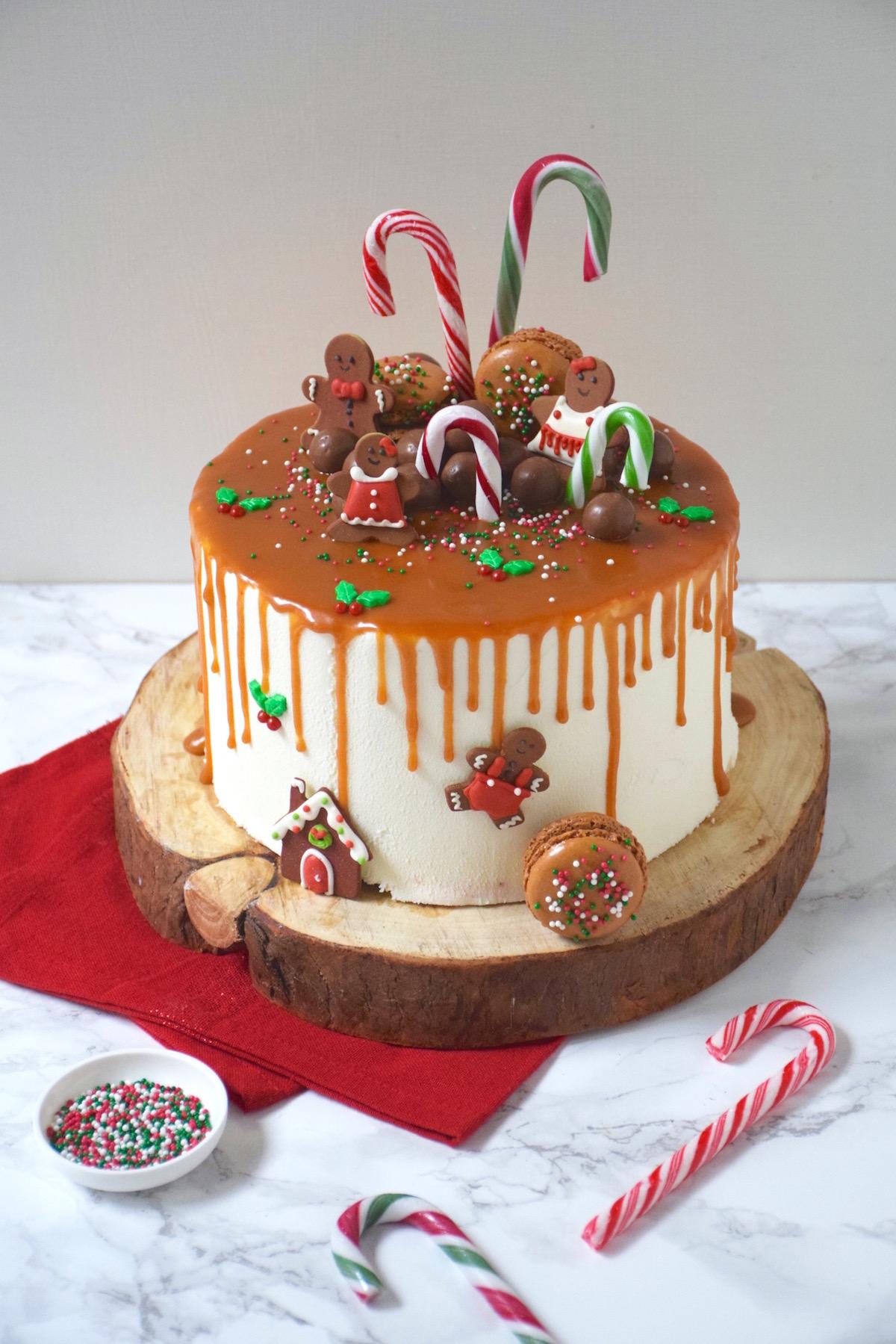 Drip cake pomme caramel