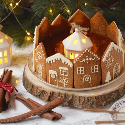Couronne de maisons – Biscuits pain d'épices au Golden Syrup