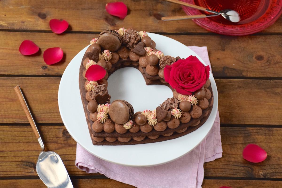 Gâteau chiffre coeur chocolat,Carambars