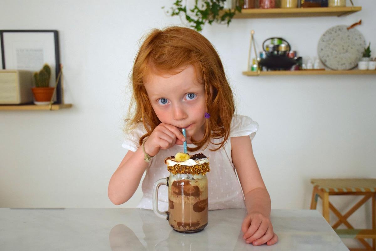 Freakshake au Banania & brownies minute