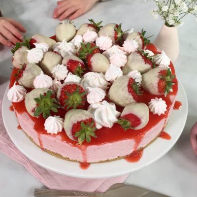 Bonne fête maman – Cheesecake aux fraises sans cuisson