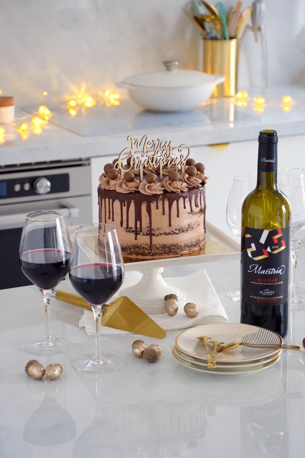 Layer cake chocolat, buttercream meringue suisse chocolat