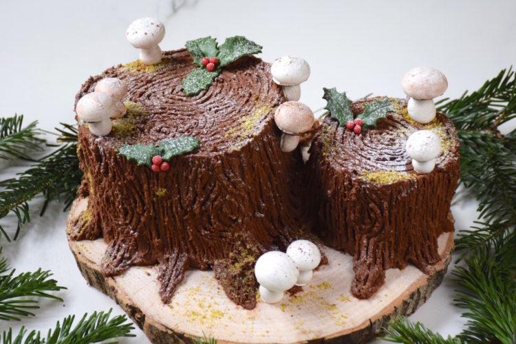 Bûche souche de Noël (Mud Cake chocolat & marrons)