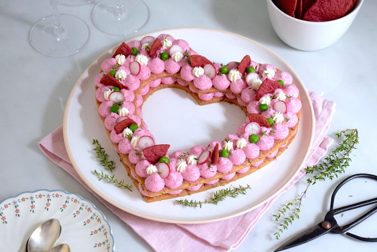 Savoury Heart Cake