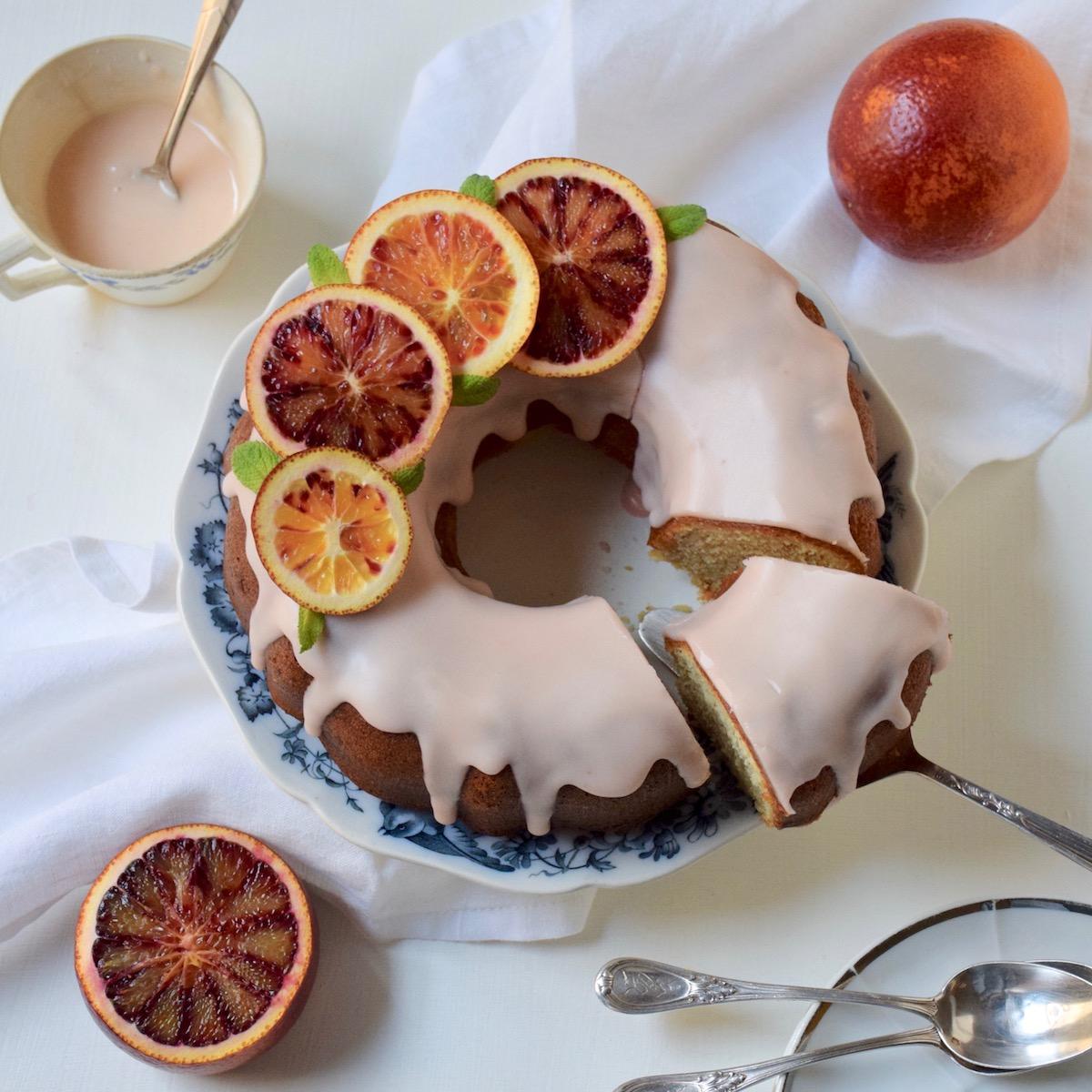 Bundt cake aux oranges sanguines