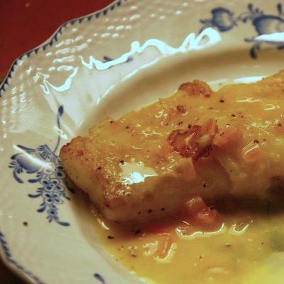 Sauce au beurre blanc & Beignets de fleur de courgettes