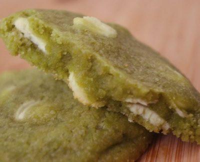 Cookies au thé vert et chocolat blanc