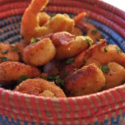 Beignets de crevettes épicés