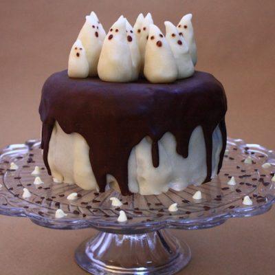 Gâteau fantôme chocolat pâte d'amande