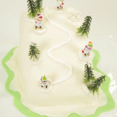 Gâteau piste de ski [en vidéo super Fashion]