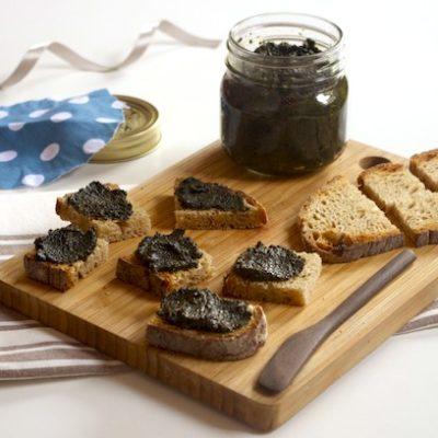 Tapenade d'olives noires au cresson