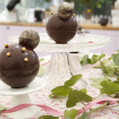 Les sphères en chocolat