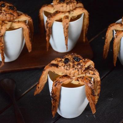 Soupe araignées d'Halloween