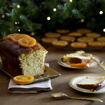 Cake orange-cardamome