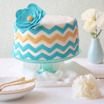Miami chevron cake