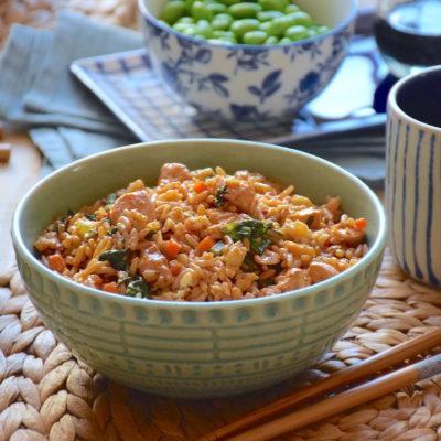 Nasi goreng ayam (riz frit balinais au poulet)