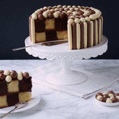 THE Gâteau Damier sans moule spécial [Tuto détaillé + gabarit]