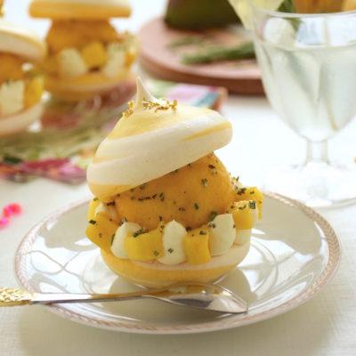 Création glacée – Bouchée glacée meringue, mangue, romarin [Concours inside]