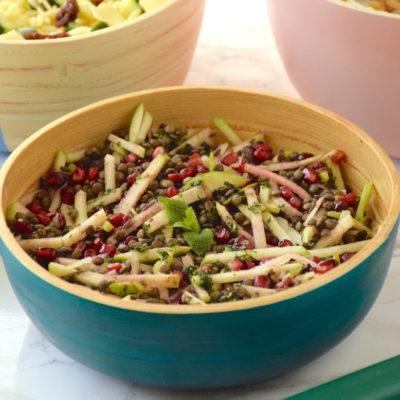 Salade lentilles grenade granny smith