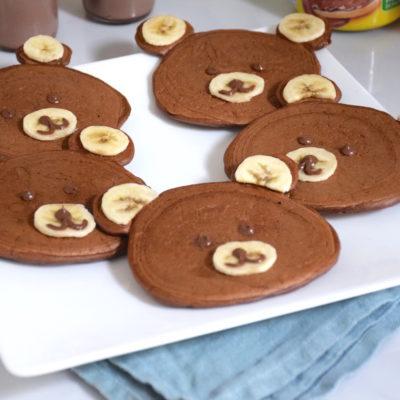 Tendresse cacaotée – Pancakes oursons au Banania