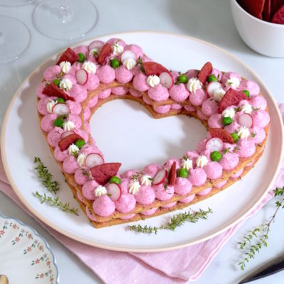 Pinky apéro – Heart Cake salé betterave chèvre