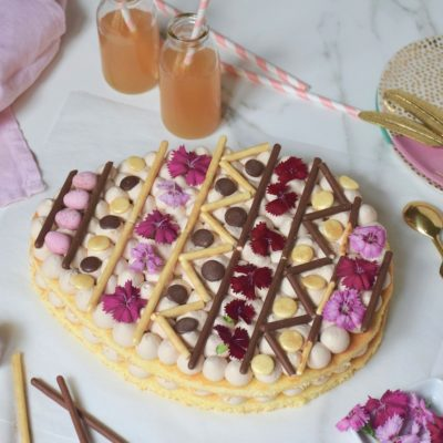 Pâques 2019 – Gâteau œuf de Pâques façon Number Cake