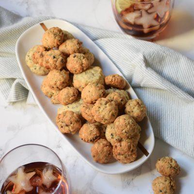 Cookies salés parmesan & petites graines