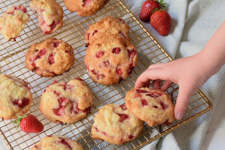Biscuits fraises fraîches