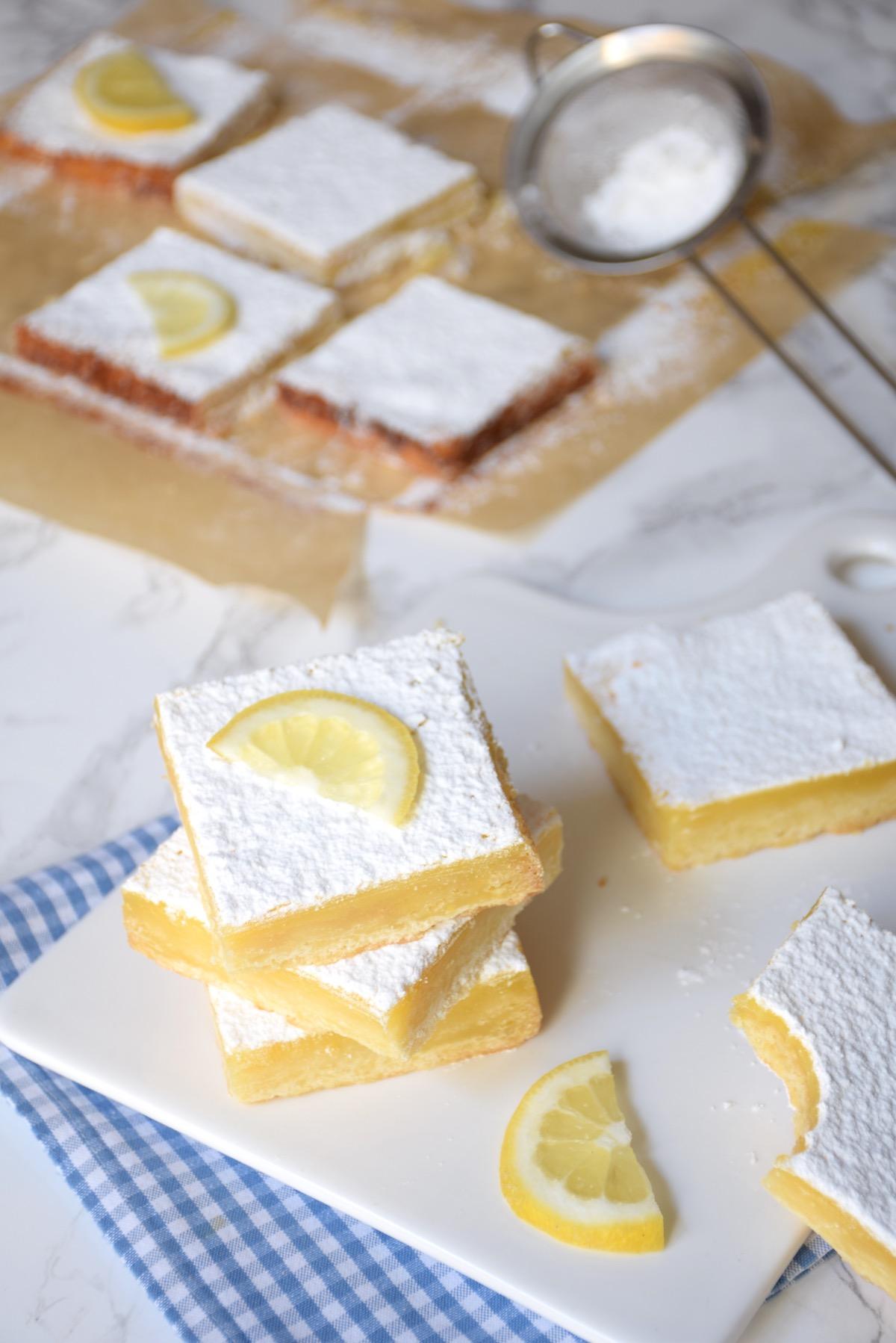 Lemon Bars / Carrés au citron