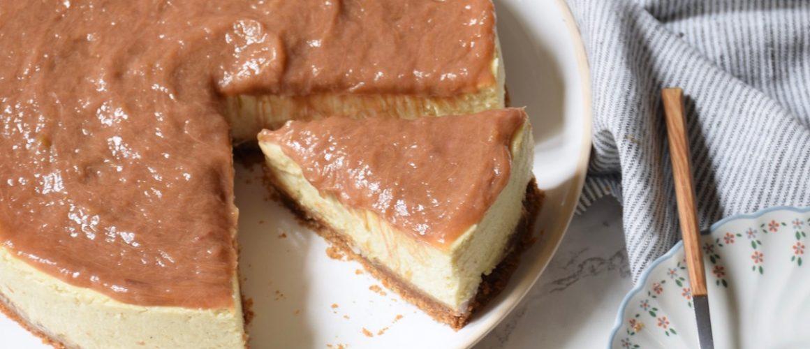 Mon gâteau de fête des mères – Cheesecake rhubarbe